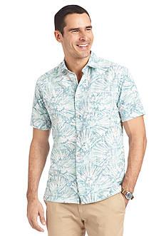 Van Heusen Big & Tall Short Sleeve Polynesian Print Woven Shirt