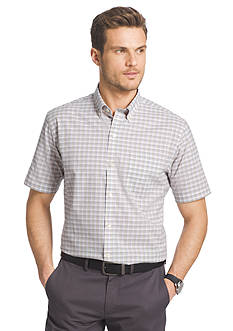 Van Heusen Big & Tall Short Sleeve Luxe Touch Check Print Shirt
