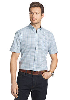 Van Heusen Big & Tall Short Sleeve Luxe Touch Woven Shirt