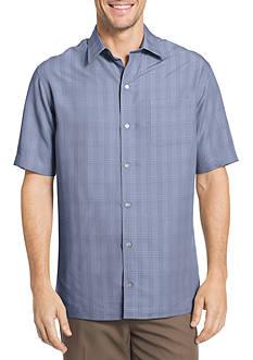Van Heusen Big & Tall Short Sleeve Windowpane Shirt