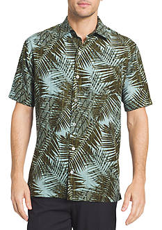 Van Heusen Big & Tall Oasis Palm Print Dobby Collar Shirt