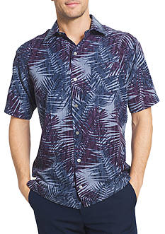 Van Heusen Big & Tall Oasis Palm Print Dobby Collar Shirt