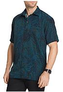 Van Heusen Big & Tall Short Sleeve Oasis Foliage