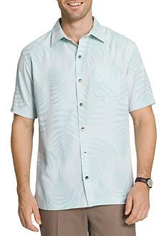 Van Heusen Big & Tall Short Sleeve Jacquard Leaf Shirt