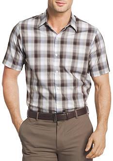 Van Heusen Big & Tall Short Sleeve Cotton Woven Dress Shirt