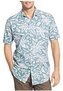 Van Heusen Big & Tall White Wash Floral Button