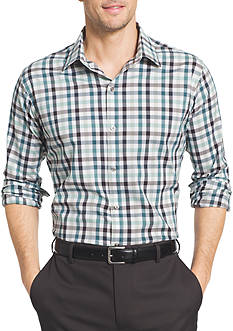 Van Heusen Big & Tall Long Sleeve Flex Stretch Gingham Shirt
