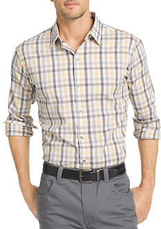 Van Heusen Big & Tall Long Sleeve Flex Stretch Gingham Shirt