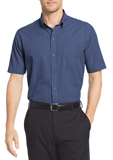 van heusen big tall short sleeve flex shirt belk