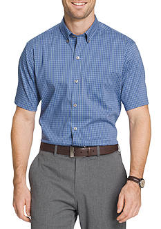 Van Heusen Big & Tall Short Sleeve Flex Gingham Shirt