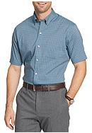Van Heusen Big & Tall Short Sleeve Flex Gingham