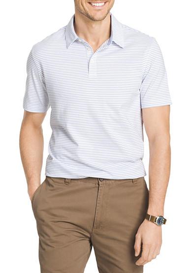 Van heusen big tall stripe short sleeve polo knit shirt for Van heusen men s short sleeve dress shirts