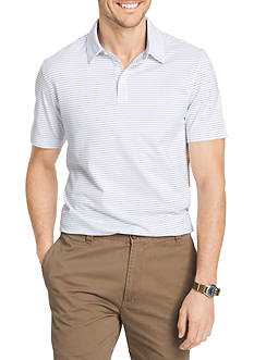 Van Heusen Big & Tall Stripe Short Sleeve Polo Knit Shirt