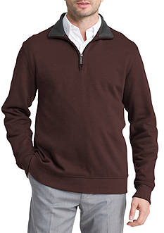 Van Heusen Big & Tall Long Sleeve Spectator Solid 1/4 Zip Shirt