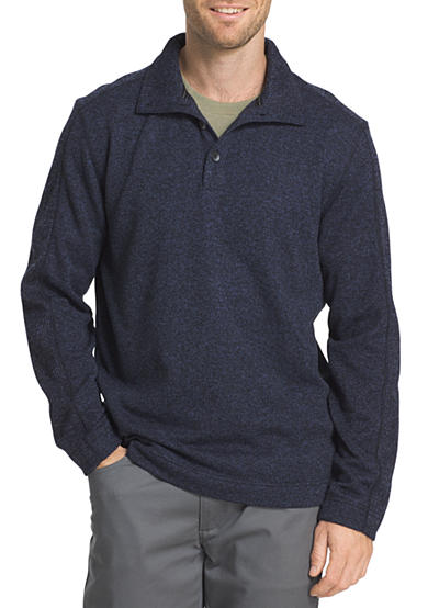 Van heusen big tall solid mock neck sweater belk for Big and tall mock turtleneck shirt