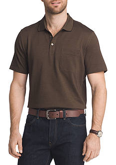 Van Heusen Big & Tall Short Sleeve Stripe Jacquard Polo