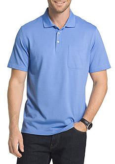 Van Heusen Big & Tall Short Sleeve Stripe Jacquard Polo