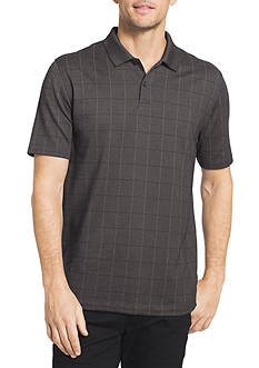 Van Heusen Big & Tall Short Sleeve Windowpane Polo