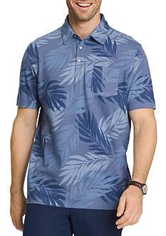 Van Heusen Big & Tall Short Sleeve Oasis Print Polo Shirt