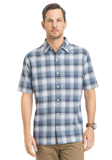 Van heusen big tall plaid sport shirt for Van heusen plaid shirts