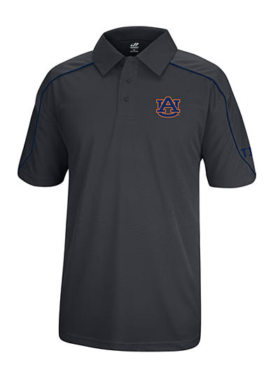J. America Auburn Tigers Polyester Mesh Polo with Shoulder Paneling and Piping