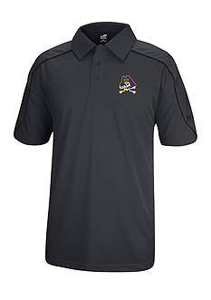 J. America East Carolina Pirates Polyester Mesh Polo with Shoulder Paneling and Piping