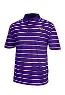 J. America LSU Tigers Yarn Dyed Drop Needle Polo