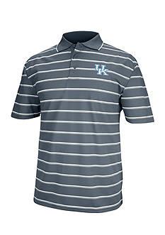 J. America Kentucky Wildcats Yarn Dyed Drop Needle Polo
