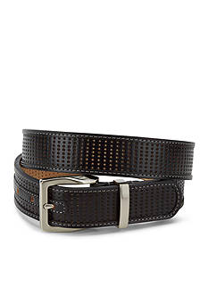 Greg Norman Collection Perforated Leather Strap Belt