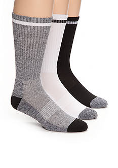 SB Tech® Marled Athletic Crew Socks - 3 Pack