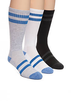 SB Tech Stripe Athleisure Crew Socks - 3 Pack