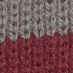 Men: Hats & Caps Sale: Charcoal/Burgundy Saddlebred Striped Knit Slouchy Hat
