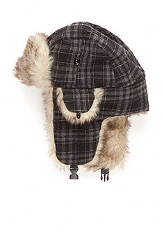 Saddlebred Plaid Faux Fur Hat