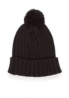 Saddlebred Cable Knit Hat with Pom Pom