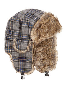 Saddlebred Plaid Faux Fur Bomber Hat