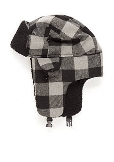 Saddlebred Buffalo Plaid Bomber Hat with Faux Sherpa Lining