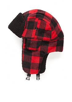 Saddlebred Buffalo Plaid Bomber Hat with Faux Sherpa Lining