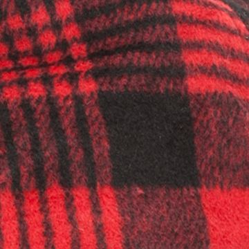 Men: Hats & Caps Sale: Red/Black Saddlebred Sherpa Fleece Hat