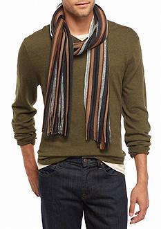 Saddlebred Striped Knit Scarf