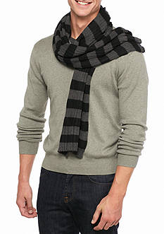 Saddlebred Rugby Striped Knit Scarf