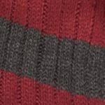 Men: Scarves Sale: Gray Saddlebred Rugby Striped Knit Scarf
