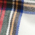 Men: Scarves Sale: White Saddlebred Tartan Plaid Scarf