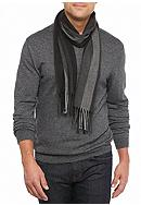 Saddlebred® Wide Striped Fancy Cashmere Scarf