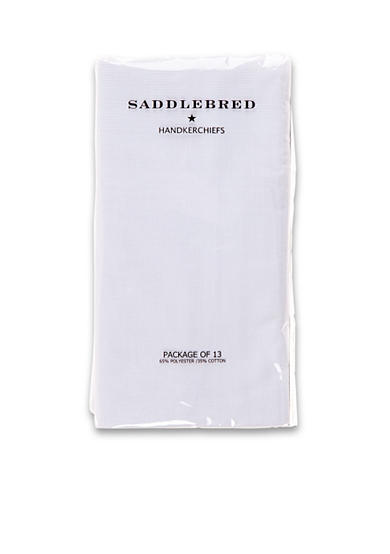 Saddlebred® 13 Pack Pressed Handkerchiefs