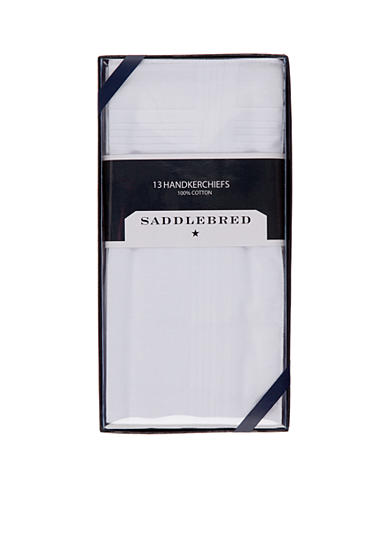 Saddlebred® 13-Pack Pressed Handkerchiefs