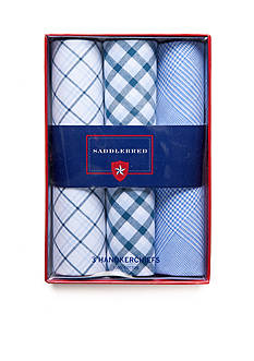 Saddlebred® 3-Pack Cotton Handkerchiefs