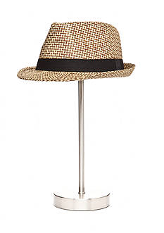 Saddlebred® Patterned Fedora Hat With Black Band