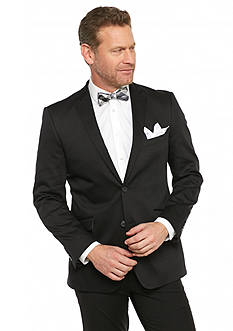 Madison Slim-Fit Black Solid Motion Stretch Sport Coat