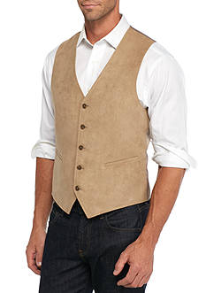Madison Slim-Fit Tan Faux Suede Vest