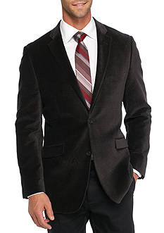 Madison Slim-Fit Black Neat Velvet Sport Coat